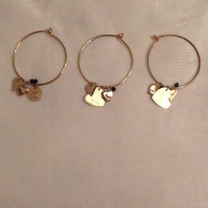 Jewelry - Set of three Charm bracelets